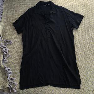 Athleta Washable Silk CYA Short Sleeve Tunic — M